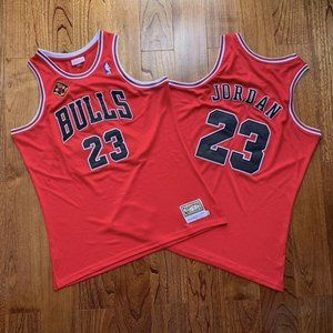 Bulls Michael Jordan 97-98 Red Champion Jersey